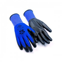 Guante poliester U3 azul